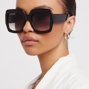 """Free People """"Real Deal""""oversized square sunglasses"""